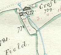 Detail from map of Low or Near Greenfield, by Sam Swire. (Raistrick maps 1150B, Special Collections, University of Bradford)