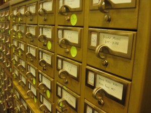 Card catalog - from flickr stream of DukeUnivLibraries under licence CC BY-NC-SA 2.0