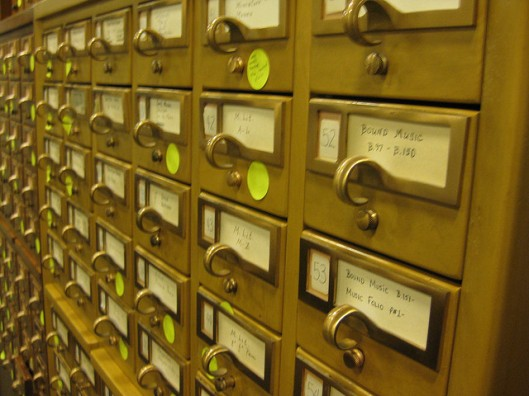 Card catalog from flickr stream of DukeUnivLibraries under licence CC BY-NC-SA 2.0