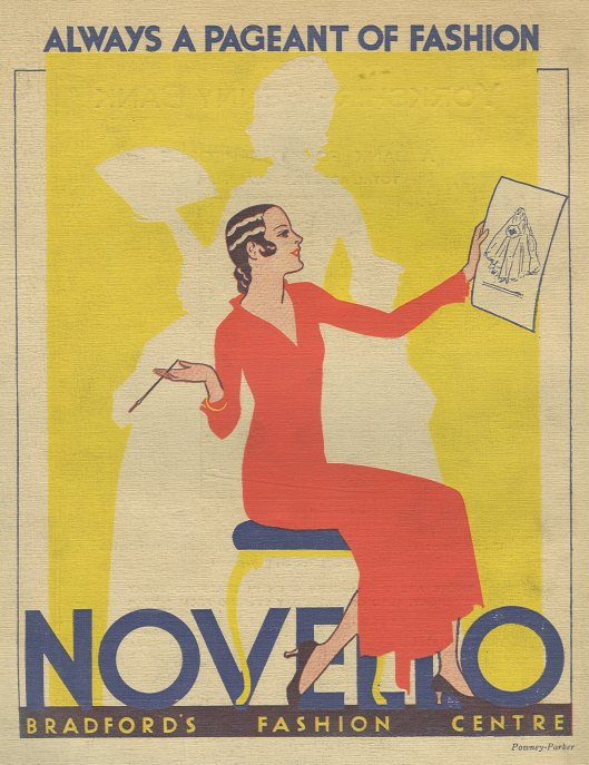 Advertisement for Novello, Bradford, back cover of the Historical Pageant of Bradford, a book in Bradford University's Special Collections that would also be found in Local Studies
