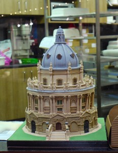 How appropriate!  The Bodleian Library in cake form, courtesy Sally Crossthwaite's flickr stream under licence CC BY NC ND 2.0